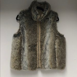 Weatherproof Reversible Vest Faux Fur